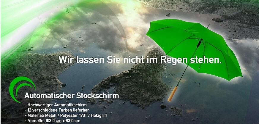 Regenschirm bedruckt mit Logo