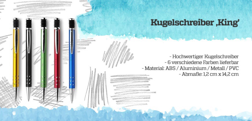 Werbe-Kugelschreiber geringe Mengen mit Logo bedrucken