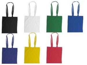Einkaufstasche Baumwolle lange Henkel - 50 Stück inkl. 1-farb. Druck