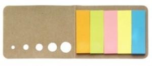 Haftnotizen Sticker aus Karton - 100 Stück inklusive einfarbiger Druck