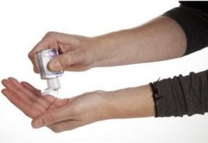 Handgel Vitamin E in PET Flasche - 68 Stück inkl. 1-farb. Druck