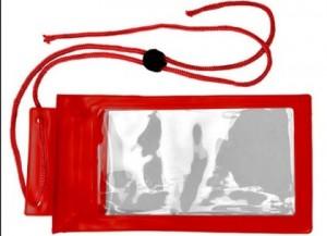 Handyschutzhülle mit Kordel - 50 Stück inklusive einfarbiger Druck