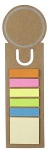 Lesezeichen mit Haftnotizen Sticker  - 60 Stück inklusive einfarbiger Druck
