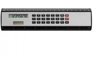 Rechner-Lineal aus ABS-Kunststoff - 25 Stück inklusive einfarbiger Druck