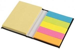 Notizbuch mit Marker und Haftnotizen - 50 Stück inklusive einfarbiger Druck