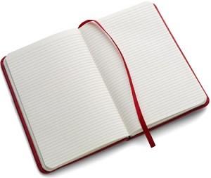 Notizbuch A6-Format, ca. 200 Seiten liniert - 30 Stück inklusive einfarbiger Druck