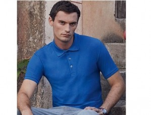 Polo-Shirt Fruit of the Loom 65/35 Tailored Fit - 7 Stück inklusive Bestickung