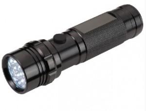Metall-Taschenlampe mit 14 LED in Box - 10 Stück inklusive Gravur
