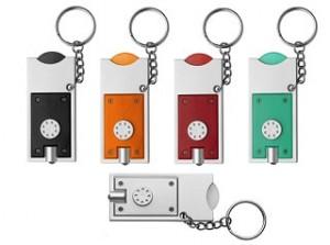 Schlüsselanhänger mit Chip und Lampe - 55 Stück inklusive einfarbiger Druck