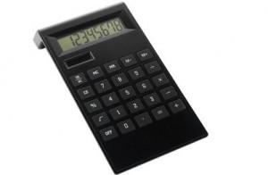 Taschenrechner aus ABS-Kunststoff - 14 Stück inklusive einfarbiger Druck