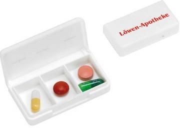 Pillenbox, Pillendose bedruckt ab geringe Stückzahlen
