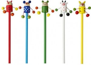 Bleistifte mit Tierfiguren inklusive Bedruckung ab geringe Bestellmenge