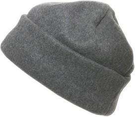 Mütze aus Fleece in schönem Grauton