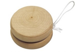 Werbeartikel Jo-Jo aus Holz ab geringe Stückzahlen bedruckt