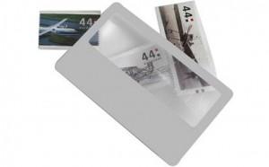 Werbeartikel Lupe in Kreditkartengröße mit Logo bedruckt