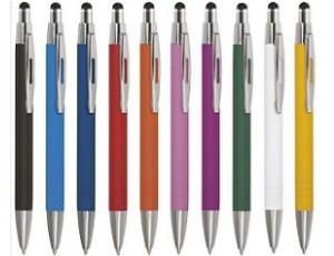 Toucpad-Kugelschreiber aus Metall inklusive Logo graviert