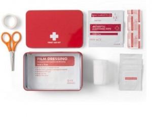 1.Hilfe-Set in Dose aus Metall mit viel Inhalt