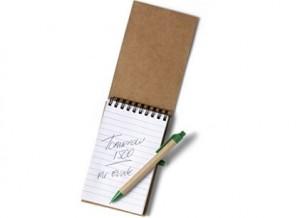 Notizblock mit passenden Kugelschreiber als Werbeset