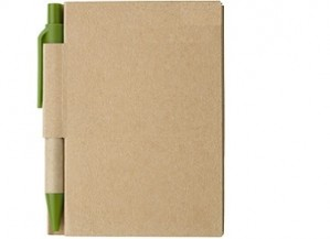 Umweltfreundliches Notizbuch mit Kugelschreiber