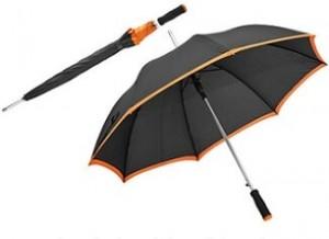 Automatik-Schirm mit farbigen Saum als Werbemittel