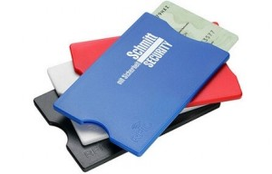 RFID-Kreditkartenschutz mit einfarbigem Druck ab geringen Bestellmengen